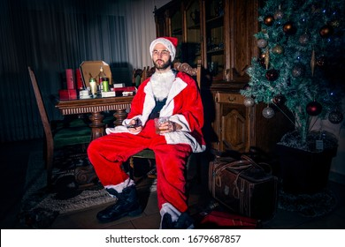 Bad Santa Claus, christmas, new year