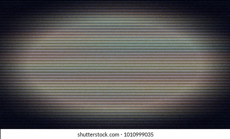Bad Signal On The Tv Screen Noise Lines Background Motion