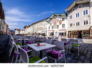 BAD TOELZ, GERMANY - MARCH 23: old town of bad toelz - bavaria on march 23, 2017