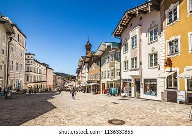 BAD TOLZ, GERMANY - May 10, 2017: Historic medieval town Bad Tolz. Bavaria