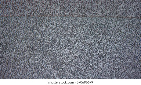 bad tv signal noise interference screen the television