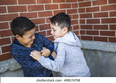 A bad Two Boys Fighting In Playground