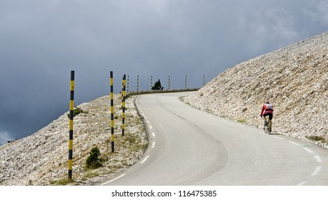 Bad weather on Mount Ventoux. France.