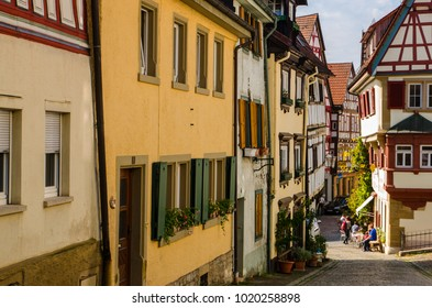 BAD WIMPFEN, GERMANY, 25th AUGUST 2017. Timber-framed old traditional German houses.