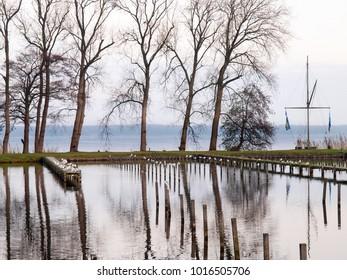 Bad Zwischenahn, Germany: Autumn landscape in the public park of the spa village