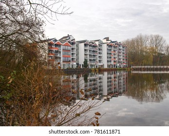 Bad Zwischenahn, Germany: Autumn landscape in the public park of the spa village