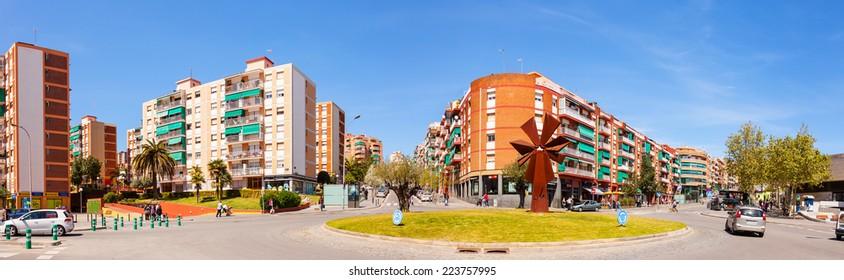 BADALONA, SPAIN - APRIL 13: La Salut district of Badalona in April 13, 2013 in Badalona, Spain. City was founded by the Romans in the 3rd century BC.  Population: 220,977 (2012 Census)