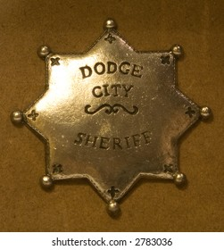 Badge for a dodge city sheriff