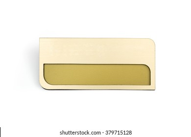 badge on the white background