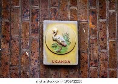 Badge of the Uganda Protectorate (1914-1962) contining an Ugandan kob