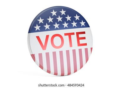 Badge Vote Election USA concept, 3D rendering