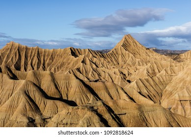 Badlands at Bardenas Reales, Navarre, Spain