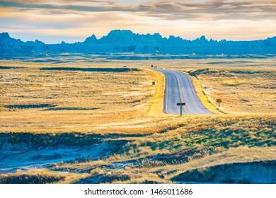 Badlands National Park. Located in southwestern South Dakota, USA.