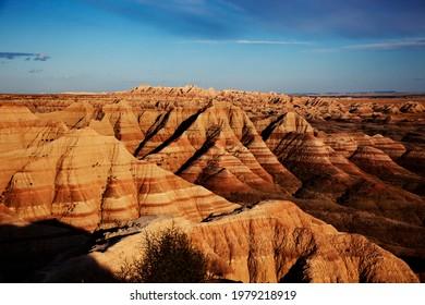 Badlands National Park, in southwest South Dakota, United States.