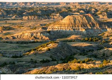Badlands from the Painted Canyon Overlook in Theodore Roosevelt National Park near Medora, North Dakota