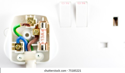 badly wired plug showing bad connection