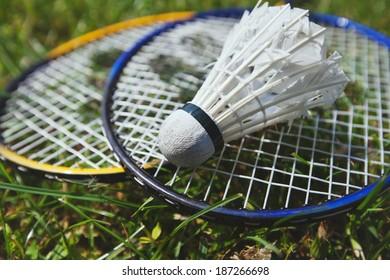 badminton close up