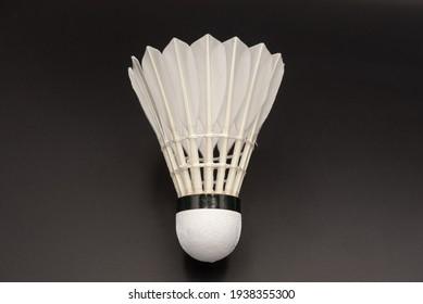 Badminton Close up On Black Backgrounp