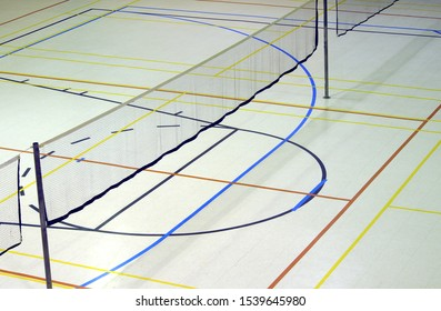 badminton net gymnasium sport leisure playground lines