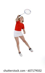Badminton player, Playing badminton