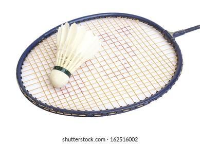 badminton and racket