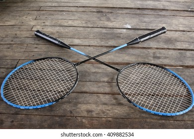 badminton racket.