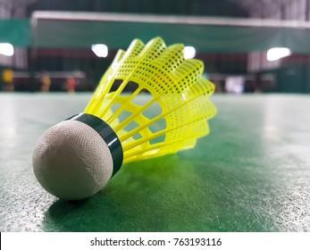 Badminton racket and background