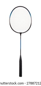 Badminton racket isolated on a white background