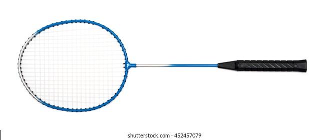 badminton racket on a white background