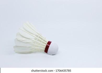 Badminton Shuttercock Isolated on White Background