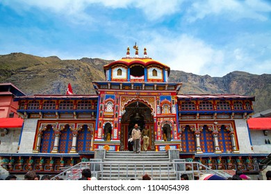 Badrinath, Uttarakhand, India - May 02, 2012 : One of the most sacred and famous centres of pilgrimage in India, the Badrinath Vishnu temple.