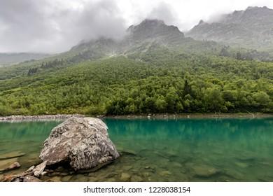 Baduk lakes in Karachay-Cherkessia. Russia. Dombay.