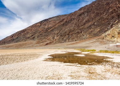 Badwater Basin in Death Valley National Park. Badwater is the lowest point in North America. California, USA