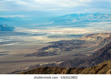 Badwater Basin and Indian Village from Dante's View in Death Valley National Park, California, USA