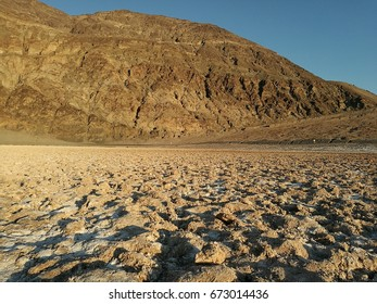 Badwater in Death Valley National Park during daylight, USA; June 2017