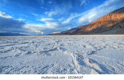 Badwater Salt lake at Death Valley