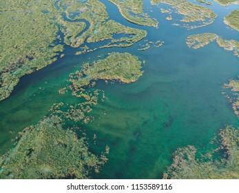 Baeautiful texture in a Lake in Kazakhstan