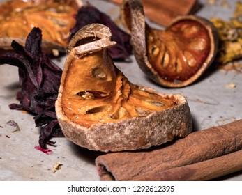 Bael Dried Fruit tea Thai herbs  herb fruit of asia