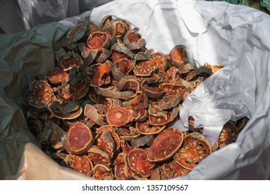 Bael or Bael fruit ,Dried quince on Basket.