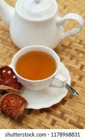 bael fruit tea with bael fruit