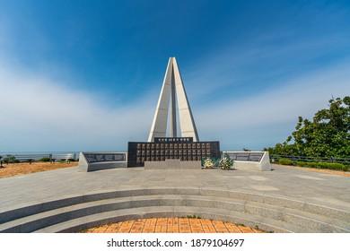 Baengnyeongdo, Incheon, South Korea - Sep 02. 2019: ROKS Cheonan Memorial Tower