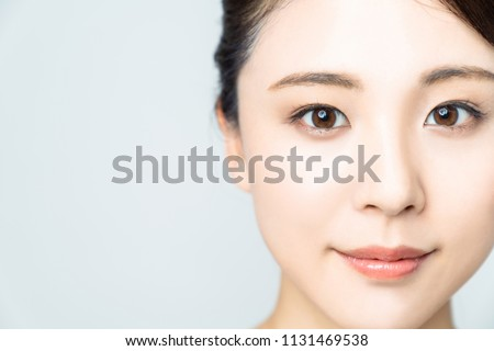 Baeuty concept of young asian woman.