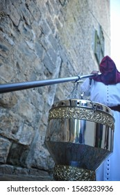 Baeza, Spain - Mar 24, 2013: Big censer in the famous Easter Week (Semana Santa) of Baeza, Jaen province, Spain. Holy Week in Andalusia.