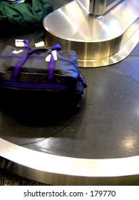 Bag at airport luggage tape