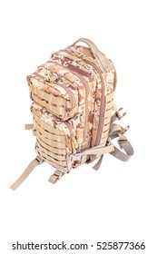 bag, Backpack for travelers accessories isolate With Clipping path.