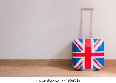 Bag british flag in room .Flags of the United Kingdom .