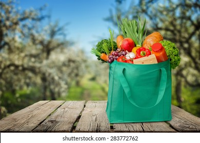 Bag, Groceries, Recycling.