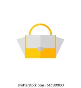 Bag isolated icon on white background. Women bag. Flat illustration design.