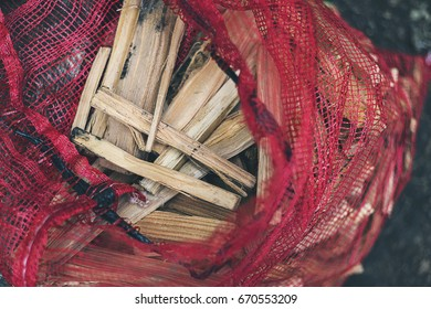 Bag of kindling wood