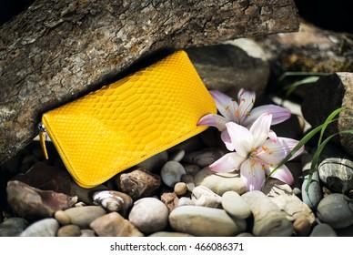 bag leather Python, women's handbag, bag snake skin, accessories
